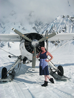 Holly on Denali with the DHC-2 Beaver