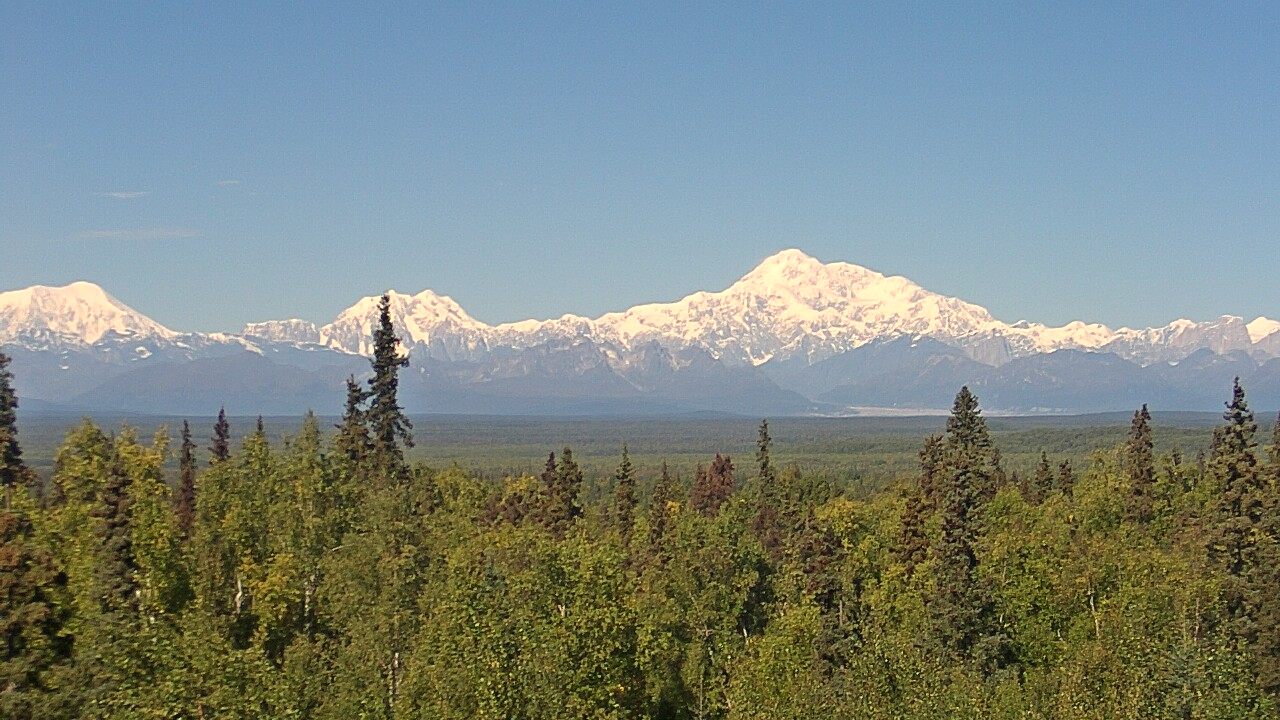 Denali Cam on Clear Day - Talkeetna