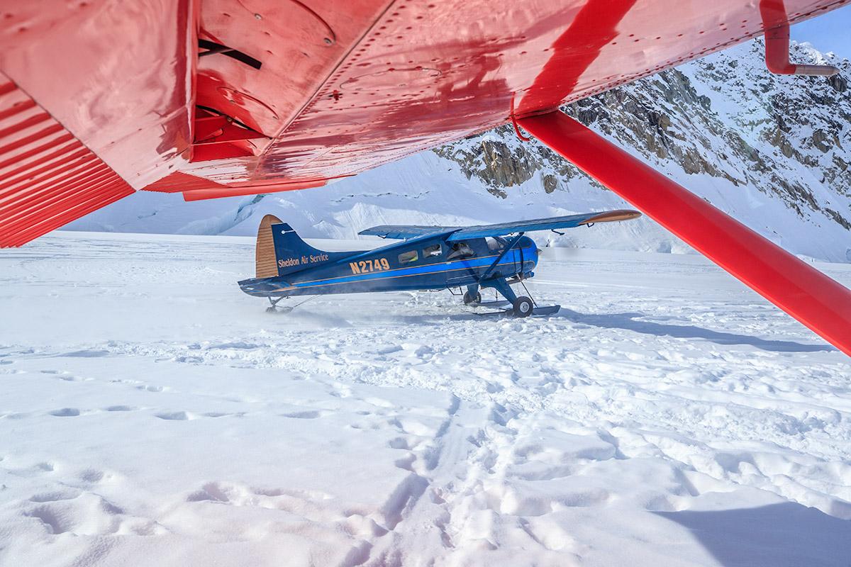 Kahiltna Glacier Basecamp Denali Takeoff