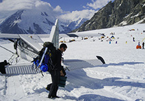 Kahiltna Glacier Base Camp